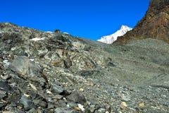 Mountain pass Egginerjoch, Saas-Fee, Valais, Switzerland Royalty Free Stock Images