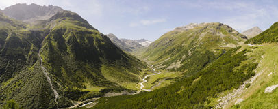 Mountain Pass Fluela, Switzerland. Mountain Pass Fluela, Graubunden, Switzerland Stock Photos