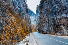 Mountain Pass In Transylvania Stock Image