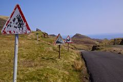 Mountain pass on Isle of Skye Stock Images