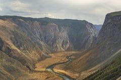 Mountain pass Katu-Yaryk, Altai Stock Photography