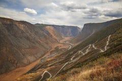 Mountain pass Katu-Yaryk, Altai Stock Photo