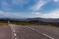 Mountain pass near Loch Ness Stock Image