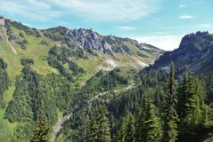 Mountain pass in the north cascades Stock Image