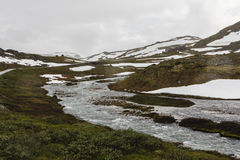 Mountain pass in Norway. Royalty Free Stock Images