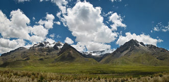 Mountain pass in Peruvian Andes Royalty Free Stock Images