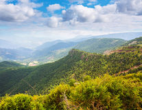 Mountain pass in Pyrenees Stock Images