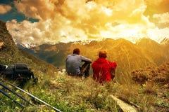 Mountain pass. Royalty Free Stock Photo