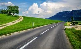 Mountain Pass. Road in the mountain alps in Austria Stock Photo