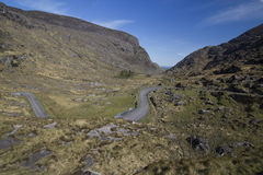 Mountain Pass road inside Gap of Dunloe, Ireland Royalty Free Stock Image
