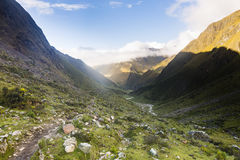 A mountain pass on the Salkantay trail. At Cuzco, Peru Stock Photo