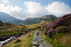Mountain Pass, Snowdonia, Wales Stock Image