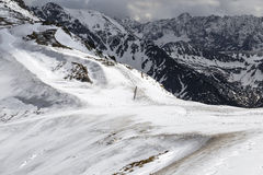 Mountain pass in the Tatra Mountains Royalty Free Stock Image