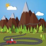 Mountain pass Royalty Free Stock Photos