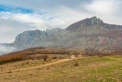 Mountain pasture Demerdzhi, Crimean peninsula Royalty Free Stock Images