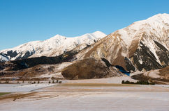 Mountain pasture in winter Royalty Free Stock Photo