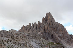 Mountain Paternkofel in Sexten Dolomites, South Tyrol Stock Photography