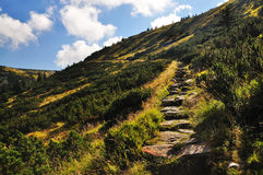 Mountain path Stock Photos