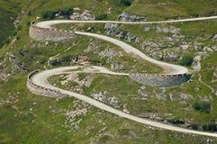 Mountain path. Mountain trail in Formazza Valley, Italy stock photos