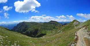 Mountain path on the Bucegi plateau Royalty Free Stock Photo