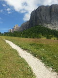 Mountain path in Dolimiti Royalty Free Stock Image