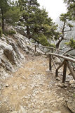 Mountain path in Samaria Gorge Stock Photography