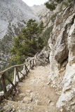 Mountain path in Samaria Gorge Royalty Free Stock Photography