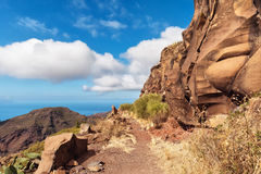Mountain path, Tenerife Royalty Free Stock Photo