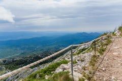 Mountain path on the top of sveti Jure mountain. Croatia Stock Photography