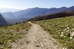 Mountain pathway. In matese park Royalty Free Stock Photos