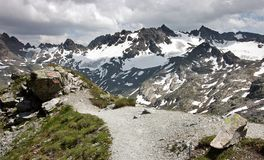 Mountain pathway in Silvretta mountain range Royalty Free Stock Photography