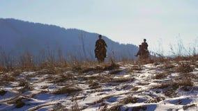 Mountain patrol. stock video footage