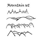 Mountain pattern graphics  illustration Stock Photography