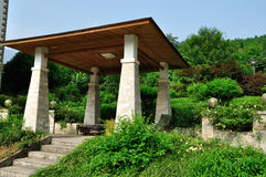 The mountain pavilion. There is a pavilion in the mountain Stock Images