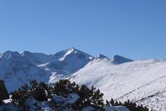Mountain peak. Highest peak in Balkans on mountain Rila, Bulgaria Stock Photo