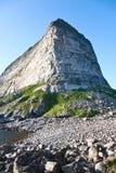 Mountain peak. High mountain peak in sunlight Stock Photos