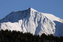 Mountain peak. In Belalp, Switzerland Stock Image