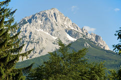 Mountain peak. Mountain Maglić - highest peak in Bosnia and Herzegovina Stock Images