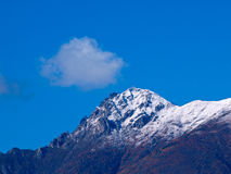 Mountain peak. A shot of the Italian Alps Royalty Free Stock Photo