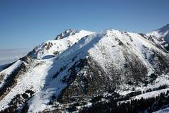 Mountain peak. In the Tien Shan, Kyrgyzstan Stock Images