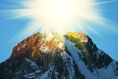 Mountain peak Royalty Free Stock Photo