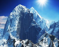 Mountain peak Stock Images