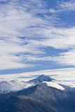 Mountain peak. Covered in snow Royalty Free Stock Photography