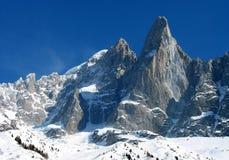 Mountain peak. The famous Dru Peak, Mont Blanc, Chamonix, France Stock Photography