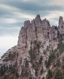 Mountain Peak. Ai-Petri is a peak in the Crimean Mountains, 1234m. For administrative purposes it is in the Yalta municipality of Crimea Stock Photography
