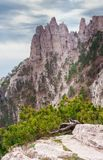 Mountain Peak. Ai-Petri is a peak in the Crimean Mountains, 1234m. For administrative purposes it is in the Yalta municipality of Crimea Stock Images