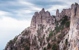 Mountain Peak. Ai-Petri is a peak in the Crimean Mountains, 1234m. For administrative purposes it is in the Yalta municipality of Crimea Stock Image