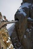 Mountain peak Aiguille Du Midi royalty free stock photo