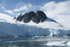 Mountain peak in Antarctica. Royalty Free Stock Photography