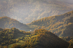 Mountain Peak in Autumn Afternoon Light. Carpathian Mountains Royalty Free Stock Image